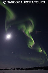 Aurora with Moon
